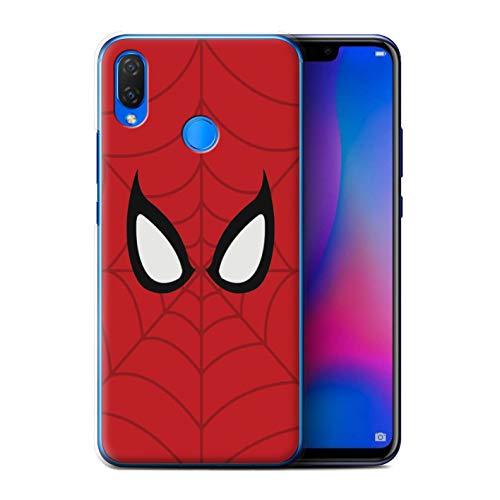 eSwish Hülle/Case für Huawei P Smart Plus/Nova 3i / Spider-Man Maske Inspiriert Muster/Superheld Comic-Kunst Kollektion
