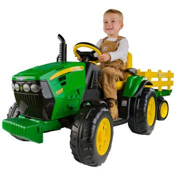 Peg Perego OR0047 John Deere - Tractor eléctrico con remolque, 12V por Peg Perego