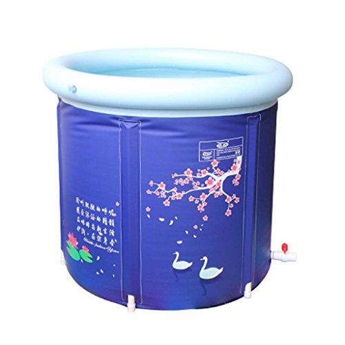 GXF Aufblasbare Badewanne-Verdickung zusammenklappbar große Stand Badewanne Erwachsene Baden manuelle Luftpumpe Haushalt Kinder Kunststoff Anwendbare Badezimmer Schlafzimmer Außenpool Garten badewan -