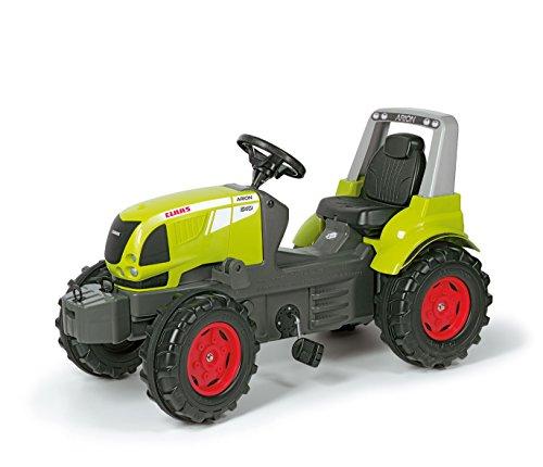 Claas Trettraktor Rolly Toys 700233 rollyFarmtrac Classic Arion 640 | Trettraktor mit Überrollbügel | Traktor mit Motorhaube zum Öffnen, Flüsterreifen und Sitzverstellung | ab 3 Jahren | Farbe grün