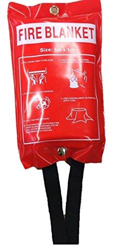 Fire Blanket 1m x 1m Quick Release in custodia morbida per casa/ufficio/Caravan