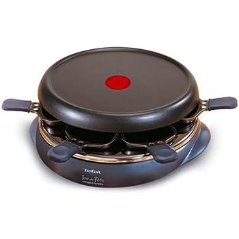 Tefal RE3510 Raclette Grill Crêpier Jour de Fête Compact 6 Coupelles