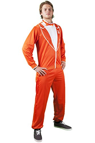 Orange Kostüm Erwachsene Tuxedo Für - Traxedo THE DUTCHMAN orange costume (Between Tuxedo and a tracksuit) Adult Fancy Dress