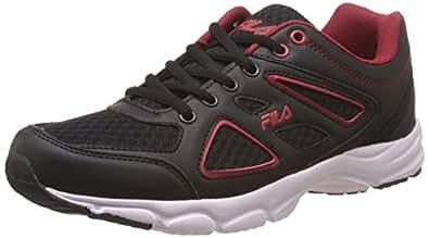 Fila Men's Super Runner Plus 2 Black and Red Running Shoes -8 UK/India (42 EU)