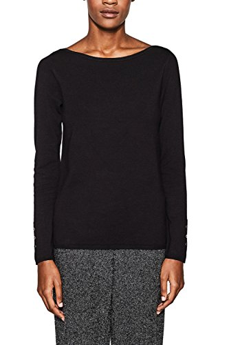 ESPRIT Collection Damen 997EO1I810 Pullover, Schwarz (Black 001), Large -