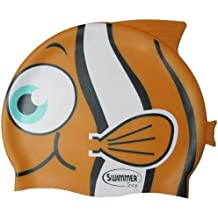 SwimmerWear Cuffia da Piscina in silicone a forma di Pesce Tropicale Taglia  Unica per il nuoto e6ed8e9e76fb