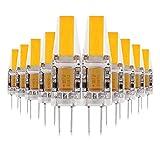 ONLT 10X G4 3W COB LED Leuchtmittel, AC / DC12-24V 4000K 300LM LED Bi-Pin-Lampe, 25W Halogenlampen Ersatz, nicht-dimmbar, 360 Grad Abstrahlwinkel, LED Birnen,Led Lampe,Crystal Spotlight Bulb