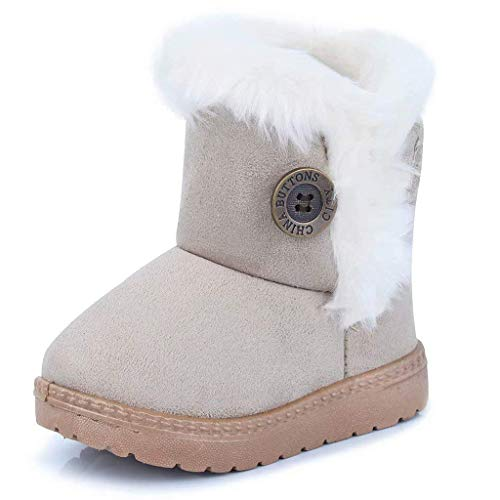 Gaatpot Girls Boys Snow Boots Baby Winter Warm Fur Lined Ankle Booties Flat Shoes (Toddler/Little Kid)