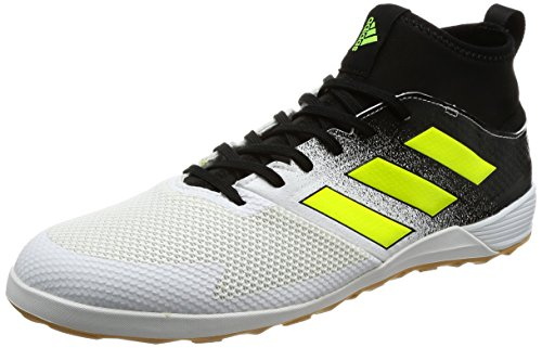 adidas Ace Tango 17.3 In, Chaussures de Football Entrainement Homme Blanc (Footwear White/Solar Yellow/Core Black)