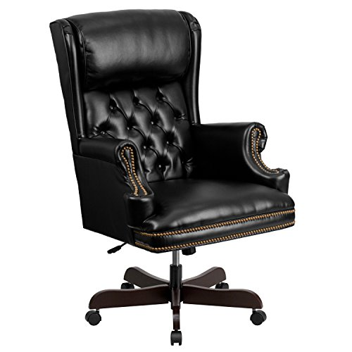 high-back-traditional-tufted-black-leather-executive-swivel-office-chair
