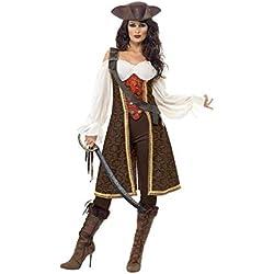 Disfraz de pirata de alta mar, para mujer.
