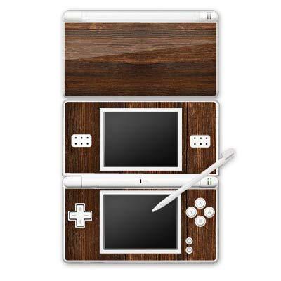 DeinDesign Skin kompatibel mit Nintendo DS Lite Aufkleber Sticker Folie Nussbaum Holz Look -