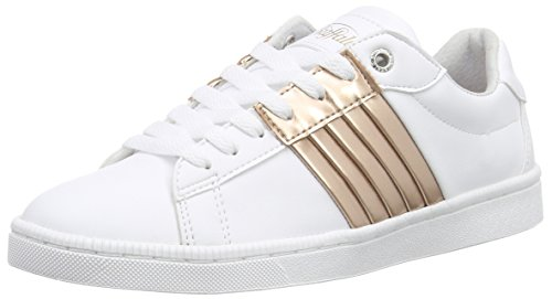 BUFFALO - 100-17 Leather Pu, Scarpe da ginnastica Donna Multicolore (Mehrfarbig (WHITE465))