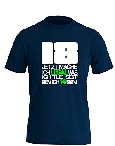 18 Jetzt mach ich legal was ich tue seit dem ich 14 bin - Herren T Shirt Navy / Bunt