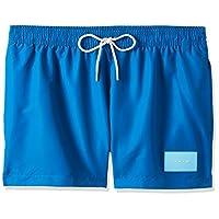 Calvin Klein Men's Short Drawstring Woven Bottoms, Blue, Large
