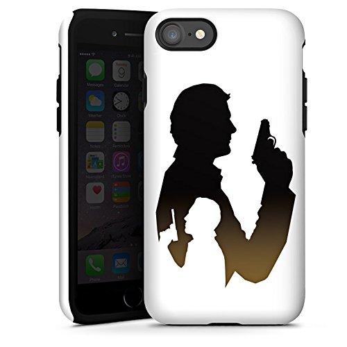 Apple iPhone X Silikon Hülle Case Schutzhülle James Bond Film Tough Case glänzend