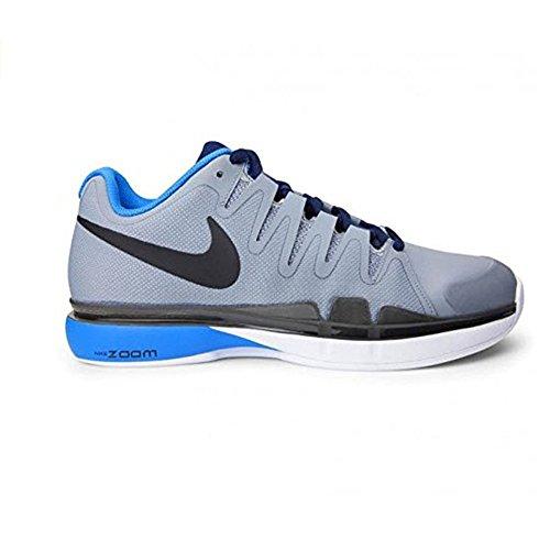 Nike Zoom Vapor 9.5 Tour Clay, Chaussures de Tennis Homme Gris / Noir / Bleu / Noir (Stealth / Black-Hrtg Cyan-Obsdn)