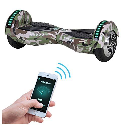 Robway W2 Hoverboard - Das Original - Samsung Marken Akku - Self Balance - Bluetooth - 2 x 350 Watt Motoren - 8 Zoll Räder (Camouflage)