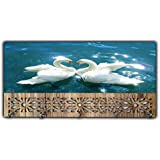 Xpression Décor Key Holder Rack with Photo of swan 11538