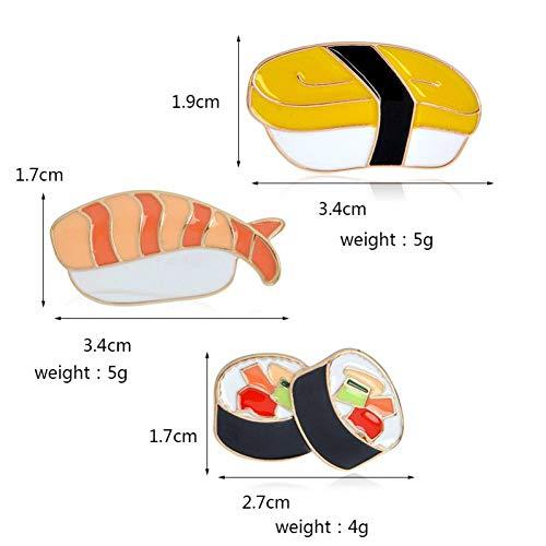 Kind Sushi Kostüm - JTXZD Brosche 3 Teile/Satz küche pins