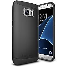 Funda Galaxy S7 Edge, Snugg Samsung Galaxy S7 Edge Case Slim Carcasa de Doble Capa [Infinity Series] Revestimiento con Protección Anti-Golpes – Negro