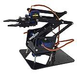 F Fityle DIY Roboterarm 4-dof Roboter Griff Mechanischer Arm Für Arduino Lern Kit