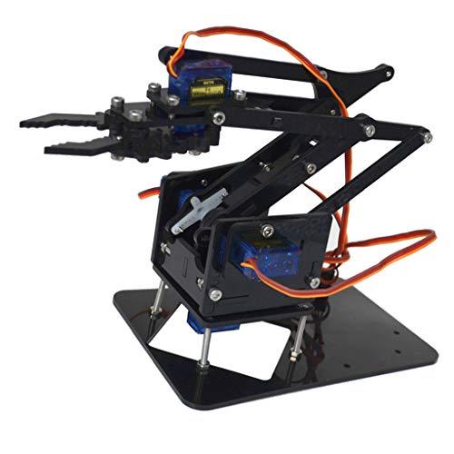 F Fityle DIY Roboterarm 4-dof Roboter Griff Mechanischer Arm Für Arduino Lern Kit (Roboter-diy)