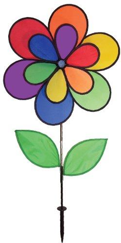 Breeze In The Regenbogen-Blumen-Winddee Wheelz Garden Spinner 19