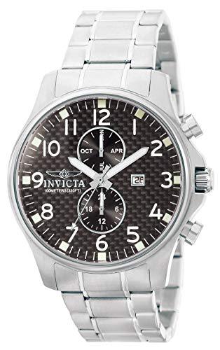 Invicta Herren Analog Quartz Uhr mit Edelstahl Armband 379