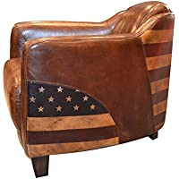 MONCONTAINER.COM Fauteuil Club Cigare Cuir Vintage USA