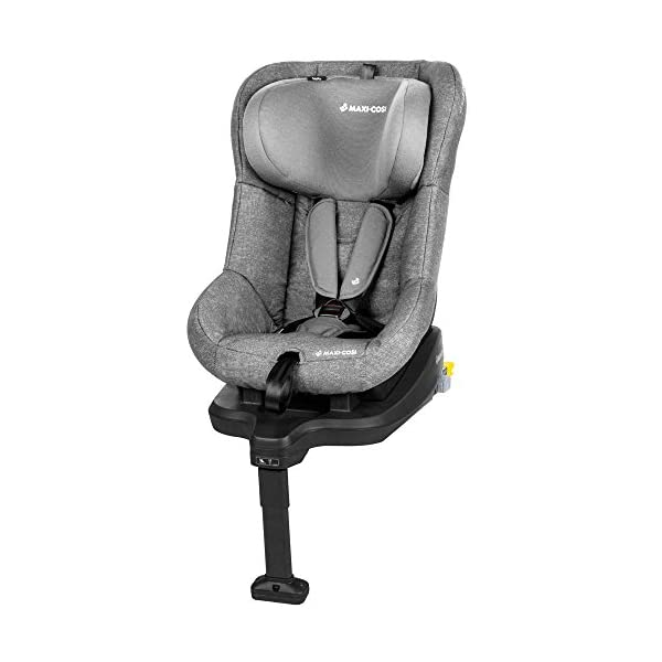 Maxi-Cosi TobiFix Toddler Car Seat Group 1, Forward-Facing ISOFIX Car Seat, 9 Months-4 Years, 9-18 kg, Nomad Grey Maxi-Cosi Install using is fix connection point with support leg Simultaneous harness & headrest adjustment can be operated with one-hand 3 position recline 2