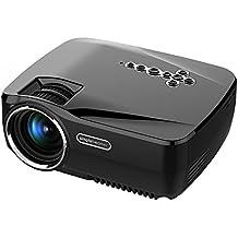 Android proyector, vivib Right gp70up portátil Mini LED Proyector WiFi 1200lúmenes F ¨ ¹ r cine en casa, fiesta y juegos, Quadcore de con 1GB de RAM y 8GB ROM, Negro