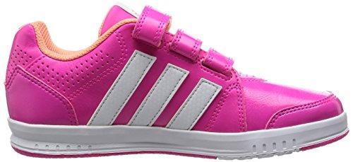 adidas LK Trainer 7, Chaussures de Course Mixte Enfant, Noir/Noir/Gris Rose / blanc / rouge (rose shocking / blanc Footwear / rayon de soleil)