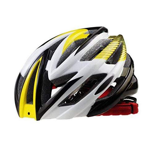 Eeayyygch Fahrradhelm Einteiliger Erwachsener Ultraleichter Reithelm für Outdoor-Schutzausrüstung, Gelb (Farbe : Gelb)
