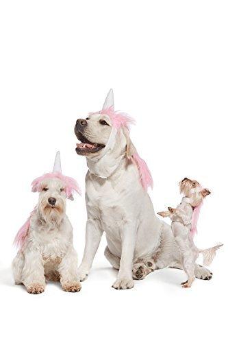 Nothing But Love rosa Einhorn-Kostüm für Hunde, Welpen, Mähne und Horn, Kopfschmuck, für ()