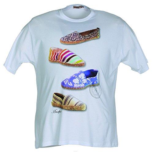 T-shirt Maxfort 23703 taglie forti uomo - Bianco, 5XL