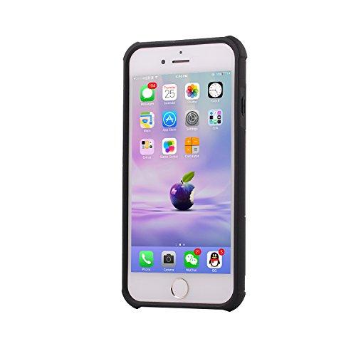 Coque iPhone 7 Plus,Case Ultra Mince Protection-Bague Ring Stand Holder-360 degrés sur la béquille ,Hybride Anti-scratch Housse Etui, - MMY Housse Etui Coque Pour iPhone 7 Plus-OR NOIR
