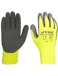 Juba - Guante poliamida recubrimiento latex rugoso amarillo talla 8