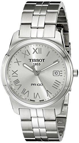 Tissot-T0494101103301-Reloj-analgico-de-caballero-de-cuarzo-con-correa-de-acero-inoxidable-plateada
