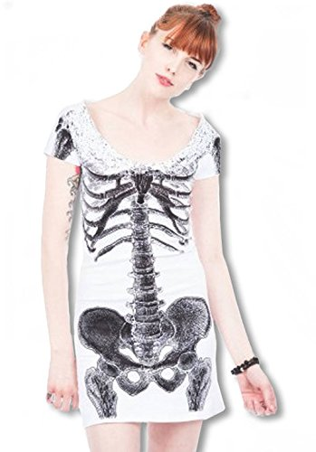 Abito camicia bianca Skeleton
