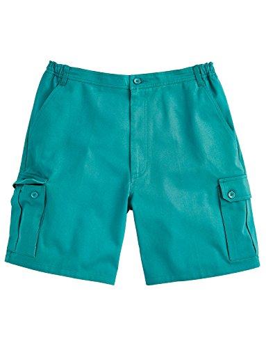 Herren Cotton Cargo-Shorts mit seitlicher Elastik Jade
