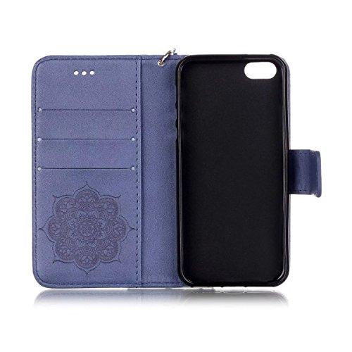 iPhone Case Cover Gemaltes Farbenmuster-Mappenartkasten magnetisches entwerfen Flipfolio PU-Lederabdeckung Standup-Abdeckungsfall für iPhone 5S SE ( Color : Black , Size : IPhone 5S SE ) Deongaree