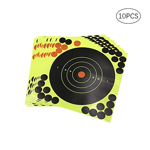 ZN 20 * 20 cm Schießscheiben Target Aufkleber Zielpapier Verfärbungszielpapier für Gun Rifle Pistol BB Pistole Airsoft Pellet Gun Luftgewehr (Airsoft Pellet Gun)