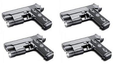 Nerd Clear Red Line Softair-Pistole 4 Stück 6 mm schwarz Federdruck ca. 16 cm lang Airsoft unter 0,5 Joule ab 14 Jahre
