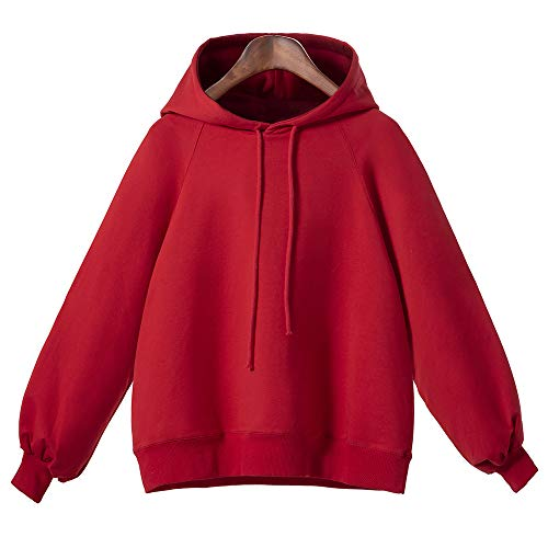 3e1cf3ef2dcde Clearance KEERADS Women Pullover Hoodie Sweatshirt Winter Coat Jacket  Outwear Plus Size(Red
