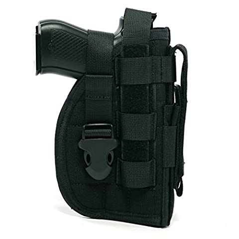 Yisibo Nylon Tactique Modulaire MOLLE de Jambe pour Pistolet Holster