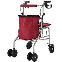 Il sedile pieghevole dello scooter di acquisto anziano può richiedere quattro giri per comprare il tempo libero del cibo per aiutare il carrello
