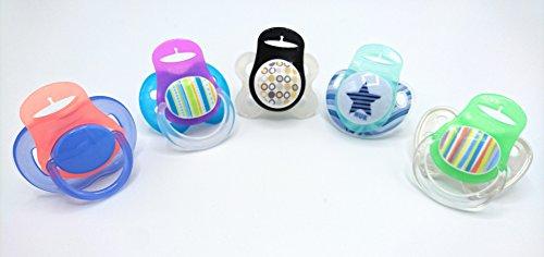 Silikonring (Adapter) für Schnuller - Schnullerhalter für Baby Schnullerketten aus weichem Silikon BPA-Frei (2er Set)