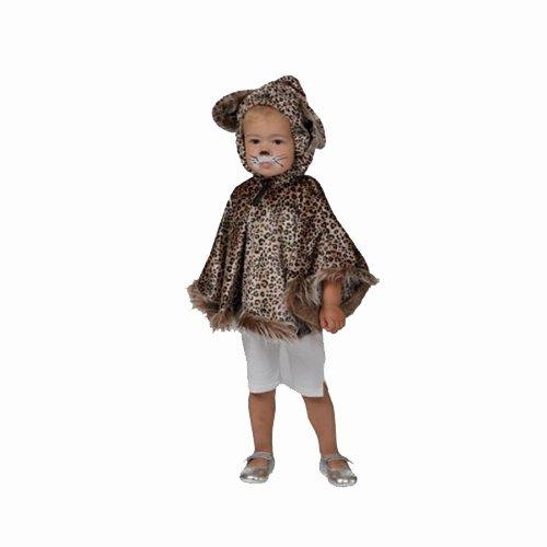 Kostümplanet® Wildkatzen Kostüm für Kinder Katzen Cape Kleinkinder Baby Faschings-Kostüm Größe One (Katze Baby Jungen Kostüm)