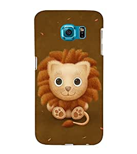 FUSON Cute Baby Lion 3D Hard Polycarbonate Designer Back Case Cover for Samsung Galaxy S6 Edge+ :: Samsung Galaxy S6 Edge Plus :: Samsung Galaxy S6 Edge+ G928G :: Samsung Galaxy S6 Edge+ G928F G928T G928A G928I
